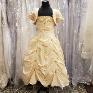 Belle Inspired Melody Girls Designer Pageant Dress